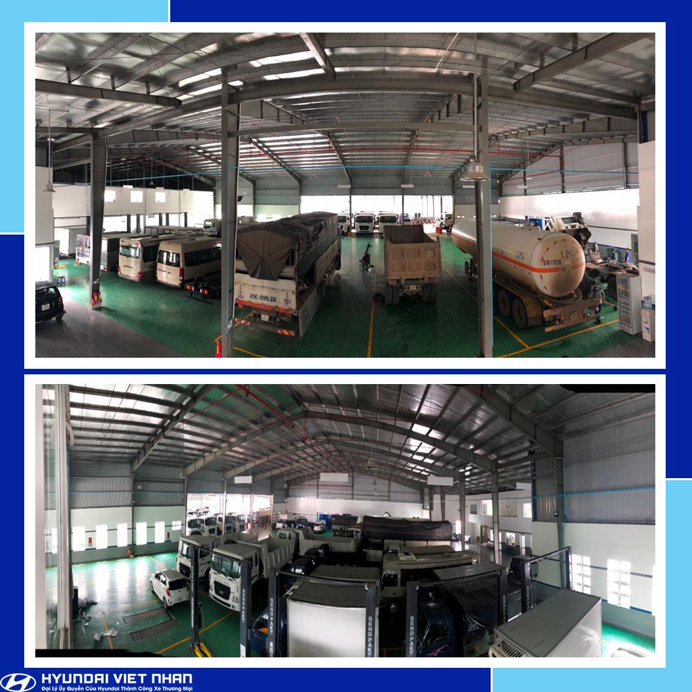 Khu dịch vụ bảo hành – bảo dường - sửa chữa Hyundai Việt Nhân