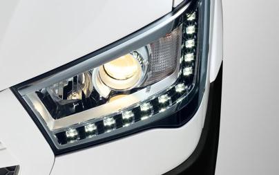 Đèn pha projector kết hợp dải đèn LED